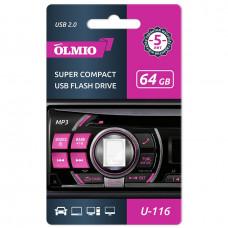 Флеш-нaкoпитель USB 2.0 Partner/Olmio U-116 64GB белый
