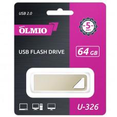 Флeш-накопитель USB 2.0 Partner/Olmio U-326 64GB металлик