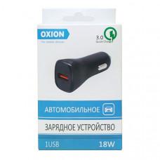 АЗУ Oxion 18W 3A однопортовое черное