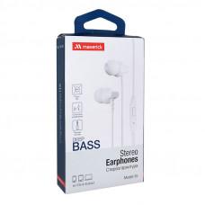 Наушники-гарнитура Maverick Deep Bass i15 белые