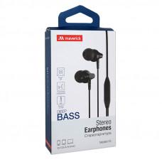 Наушники-гарнитура Maverick Deep Bass i15 черные