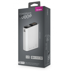 ЗУ Power Bank Partner/Olmio QS-10 18W Quick Charge 3.0 10000 mAh белый