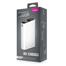 ЗУ Power Bank Partner/Olmio QS-20 18W Quick Charge 3.0 20000 mAh белый