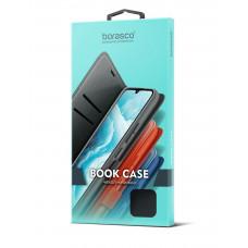 Чехол-книжка Borasco Book Case для Samsung Galaxy A12 (A125) (микрофибра внутри) эко-кожа, черный