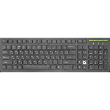 Клавиатура беспроводная Defender UltraMate SM-536 RU черная
