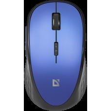 Мышь беспроводная Defender Aero MM-755 6 кнопок, 800-1600dpi бесшумная черно-синяя