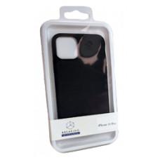 Накладка силиконовая Breaking Soft-Touch для Apple iPhone 12 Pro Max (микрофибра внутри) синяя