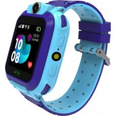 Умные детские часы Smarterra SmartLife KIDS (с поддержкой SIM)  голубые