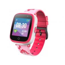 Умные детские часы JET KID BUDDY (с поддержкой SIM) розовые