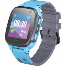 Умные детские часы JET KID TALK (с поддержкой SIM) серо-голубые