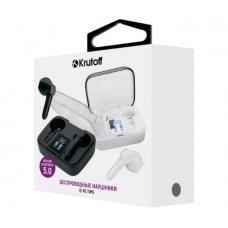 Bluetooth-наушники Krutoff TWS Q-01 сенсорные, с индикацией заряда, вкладыши черные