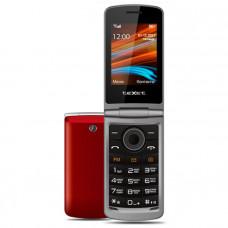 "Телефон teXet TM-404 (2,8"", 1000mAh, 2 SIM, раскладушка, камера, Bluetooth-модуль) красный"