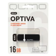 Флeш-накопитель USB 2.0 8GB Qumo Optiva 02 Black QM8GUD-OP2-Black