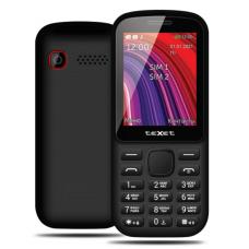 """Телефон teXet TM-208 (2,4"""", 600mAh, 2 SIM, камера, Bluetooth-модуль) черно-красный"""
